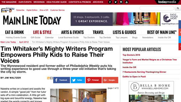 Press Main Line Today Mighty Writers