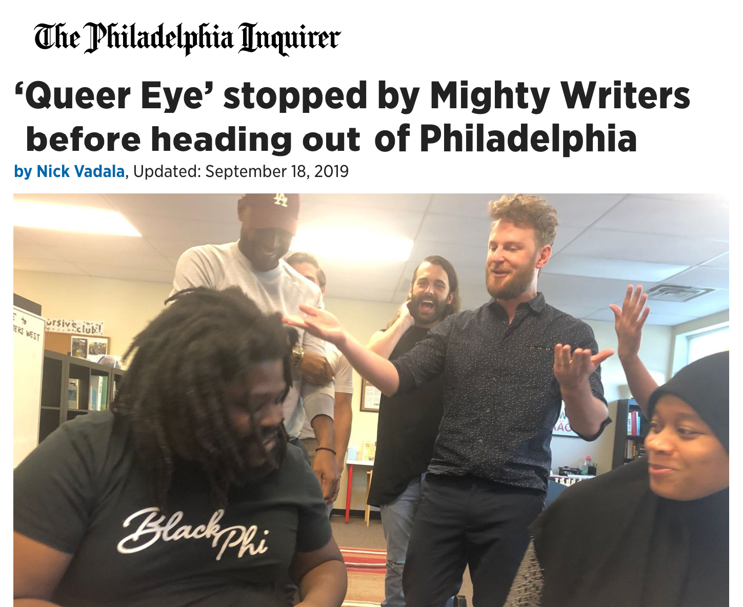 Queer Eye at Mighty Writers!