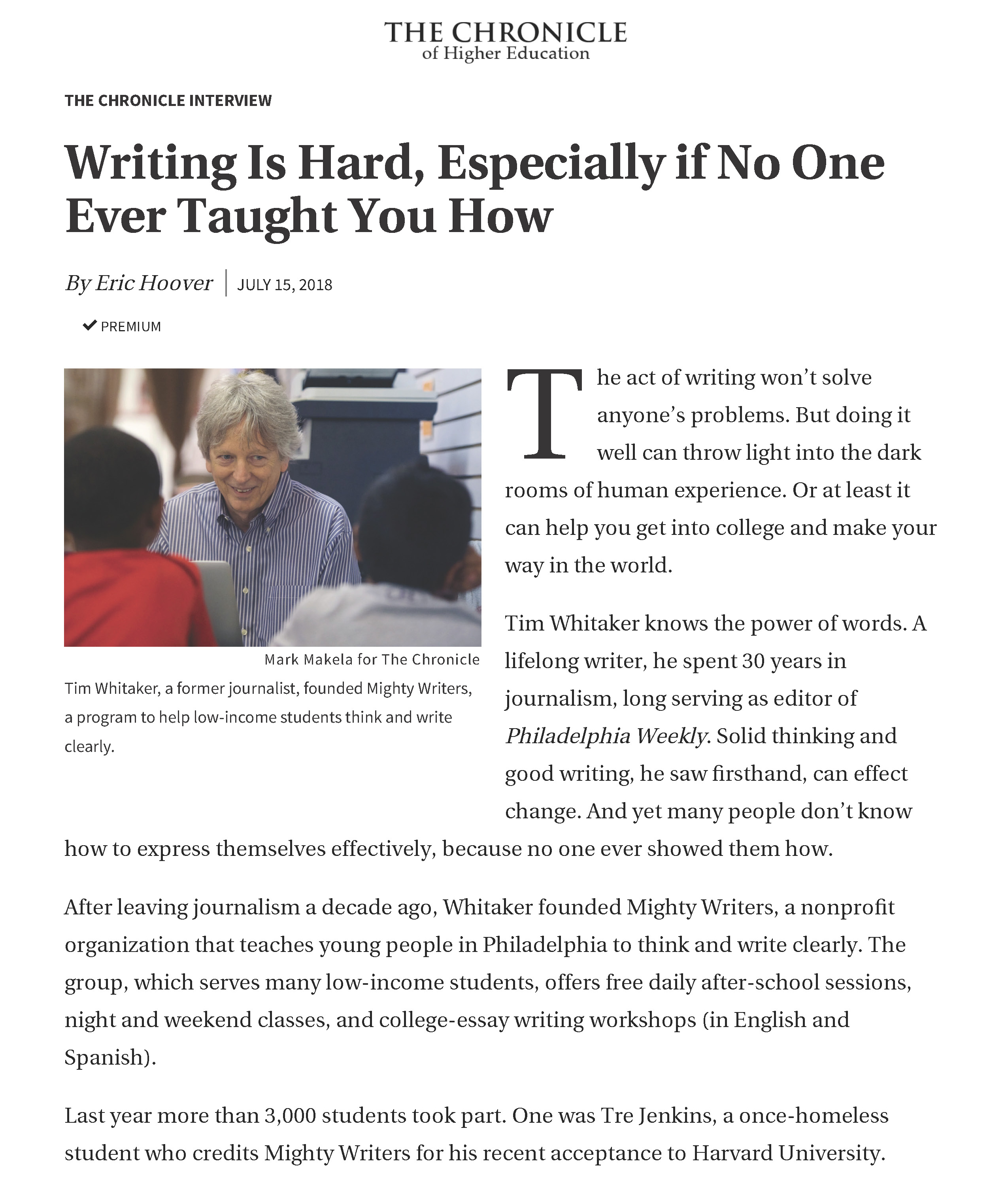 Writing Is Hard, Especially if No One Ever Taught You How - The Chronicle of Higher Education_Page_1a