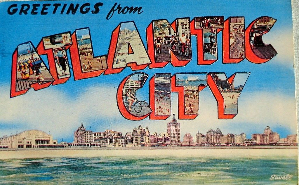 Postcard greetings from Atlantic City
